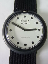BB001 Swatch - 1986 Pop Jet Black White Classic Swiss Made Authentic