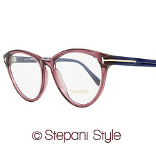 Tom Ford Oval Eyeglasses TF5358 075 Size: 52mm Wine Red/Blue FT5358