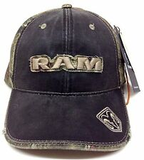 DODGE RAM LOGO PATCH BLACK MOSSY OAK CAMO HAT CAP ADJUSTABLE RETRO CAMOUFLAGE