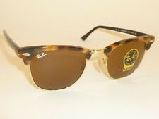 ray ban clubmaster lenses 890g  New RAY BAN Clubmaster Tortoise Frame RB 3016 1160 B-15 Brown Lenses 51mm