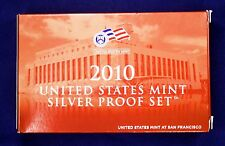 2010-s U.S. SILVER Proof Set.  U.S. Mint Made in Red Mint Box with COA
