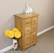 OAK  CD/DVD 8 DRAWER STORAGE CHEST FREE DELIVERY .....