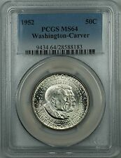 1952 Washington-Carver Silver Half Dollar Coin PCGS MS-64 Toned Reverse DGH