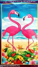 Luau Flamingos Wall Decoration 1pc Photo Backdrop Mural Hawaiian Luau Party Supp