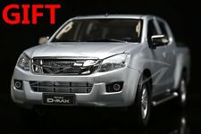 Car Model ISUZU D-MAX Pickup With Luggage Rack 1:18 (Silver) + SMALL GIFT!!!!!!!