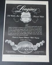 Original Print Ad 1947 LONGINES Watches Wittnauer Most Honored Watch Jewelry