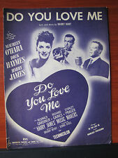 Do You Love Me by Harry Ruby/ O'Hara 1946 sheet music -Piano vocal Guitar chords