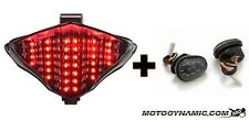04-06 Yamaha R1 SEQUENTIAL LED Tail Light SMOKE + Flush Mount Turn Signals COMBO