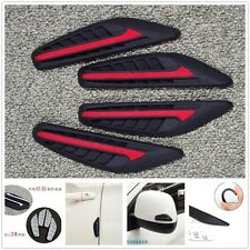 4 Pcs Rear View Mirror Door Edge Red Protector Anti-rub Scratches Strips Quality