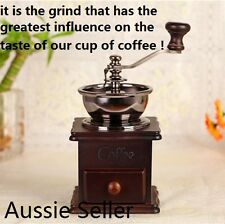 Best Antique Style Manual Coffee Grinder Conical Burr Adjustable Grind Settings