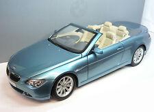 Kyosho BMW 6er Cabrio Hellblau Light Blue 1/18 NEU & in OVP Dealer Edition