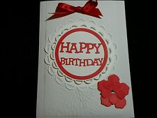 3 Handmade Greeting Cards HAPPY BIRTHDAY Home-crafted