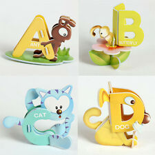 26 Letters Aminal Design Educational Early Learning ABC Baby Toys Paper Puzzle