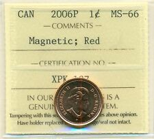 2006P Canada Small Cent Red ICCS MS-66 Magnetic
