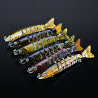 Real Jointed Fishing Bait Lure Swimbait Bass Pike Life Like Minnow Musky 9c
