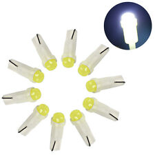 10X T5 5050 1 SMD Ceramic  LED Dashboard Bulbs Car Interior Lamps White Light