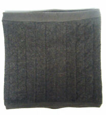 MEN WOMEN 100% WOOL CABLE TWIST BROWN KNIT SNOOD/COWL COLLAR/NECK WARMER SCARF