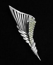 "1950 "" BOUCHER "" LARGE VINTAGE CLEAR RHINESTONES PIN/BROOCH  #3205"