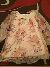 """Sleeved Summer Floral Print Dress By """"Of The Record"""" Size 8 bin 14"""