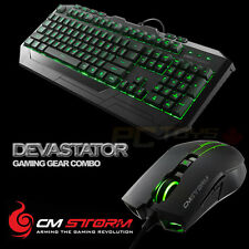 CM Storm Devastator - Green LED Backlight Gaming Keyboard and Mouse Combo Bundle
