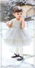 NWT Janie & Jack 3 6 M FAIRY BALLET METALLIC SILVER TULLE DRESS Special Wedding