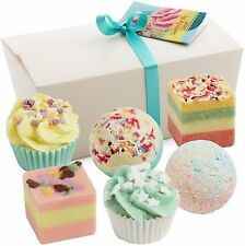 """Gift Set of 6 BRUBAKER Cosmetics Bath Bombs """"Sweets For My Sweets"""" Handmade NEW"""
