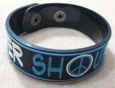 NEW NEVER SHOUT NEVER RUBBER BRACELET WRISTBAND UNISEX WHITE SOUVENIRS DAY WB48