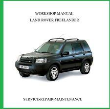 LAND ROVER FREELANDER 2001 2002 2003 2004  WORKSHOP SERVICE REPAIR MANUAL AUTO