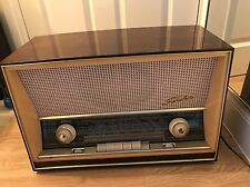 50s/60s Very Rare Vintage SABA Villingen 125 Braun Brown Wood Tube Radio Germany