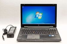 HP EliteBook 8570w QuadCore i7-3720QM 2.6GHz 4GB 320GB Win7 Webcam Gaming Laptop
