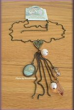 LOVE DANGLE NECKLACE BY KELLY RAE FASHION JEWELRY FREE U. S. SHIPPING