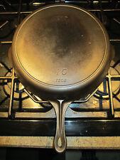 Vintage Griswold made MERIT #10 Cast Iron Skillet 1506