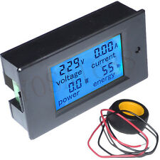 Digital Voltmeter 4 in 1 Voltage Current Power Energy Meter Gauge AC80-260V 100A