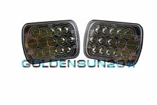 "Pair 7""x6"" LED Cree Light Bulbs H4 Crystal Clear Sealed Beam Headlamp Headlight"