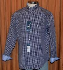 NAUTICA CLASSIC FIT LONG SLEEVE BLUE RED CHECKERED SHIRT MENS 16 1/2 32/33 NWT