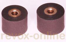 2 Gummi-Andruckrollen, 8.0mm und 8.5mm für Revox Studer A710, 2 Pinch roller
