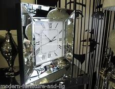 LARGE VENETIAN MIRRORED LARGE WALL CLOCK, STUNNING MIRRORED GLASS CLOCK