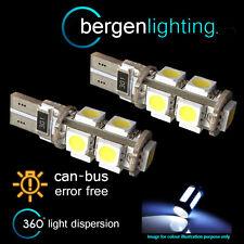 2X W5W T10 501 CANBUS ERROR FREE WHITE 9 LED SIDELIGHT SIDE LIGHT BULBS SL101704