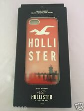 NIB HOLLISTER 1922 ORANGE RED iPHONE 5 HARD PLASTIC PHONE CASE COVER SEAGULL