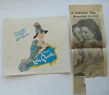 Latin Qurarter  Souvenir Photo Folder Miss Universe 1954 ?