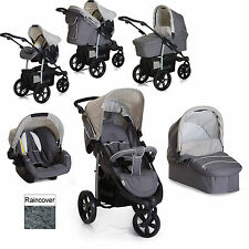 NEW HAUCK VIPER TRIO SLX 3 WHEEL PUSHCHAIR TRAVEL SYSTEM SMOKE / GREY FROM BIRTH