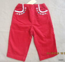 Gymboree Colorful Village Red Velveteen Faux Shearling Flower Pants 18-24 NWT