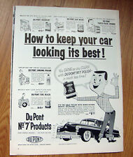 1955 DuPont Car Wax Ad  Chevy Plymouth Ford Dodge?
