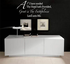 All I have Needed bible quote   vinyl wall decal