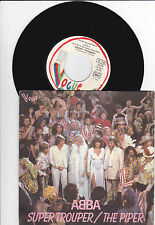 "7"" Abba  - Super Trouper / The Piper  - Paper Label - FRANCE"