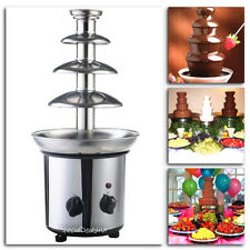 Chocolate Fondue Fountain 4 Tiers Commercial Stainless Steel Hot Luxury Cheese