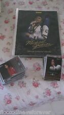 MICHAEL JACKSON PANINI RARE OFFICIAL BINDER WITH PLATINUM CARDS NO PROMO