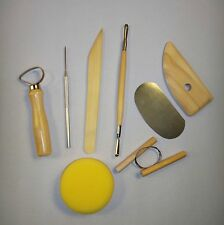 8 Piece Pottery & Clay Modeling Tool Sculpting Set Clay & Wax