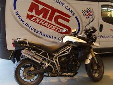 Triumph Tiger 800 & XC Stainless Round ROAD LEGAL MTC Exhaust