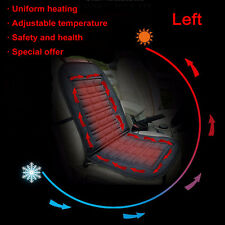LEFT Universal Black Winter Heated Car Seat Cover Pad Thermal Warmer Heater 12V